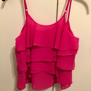 Tops - Hot pink flowy top